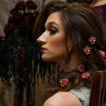 Brunette with flowers in hair