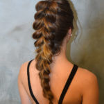Rear view of fancy braid