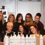 Salon staff group photo