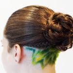 Starburst hair style design