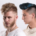 Two male hair models